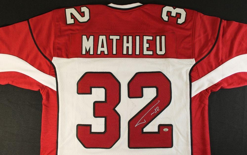 cheap for discount ba12f 004a2 Tyrann Mathieu Signed Cardinals Jersey (GTSM COA)