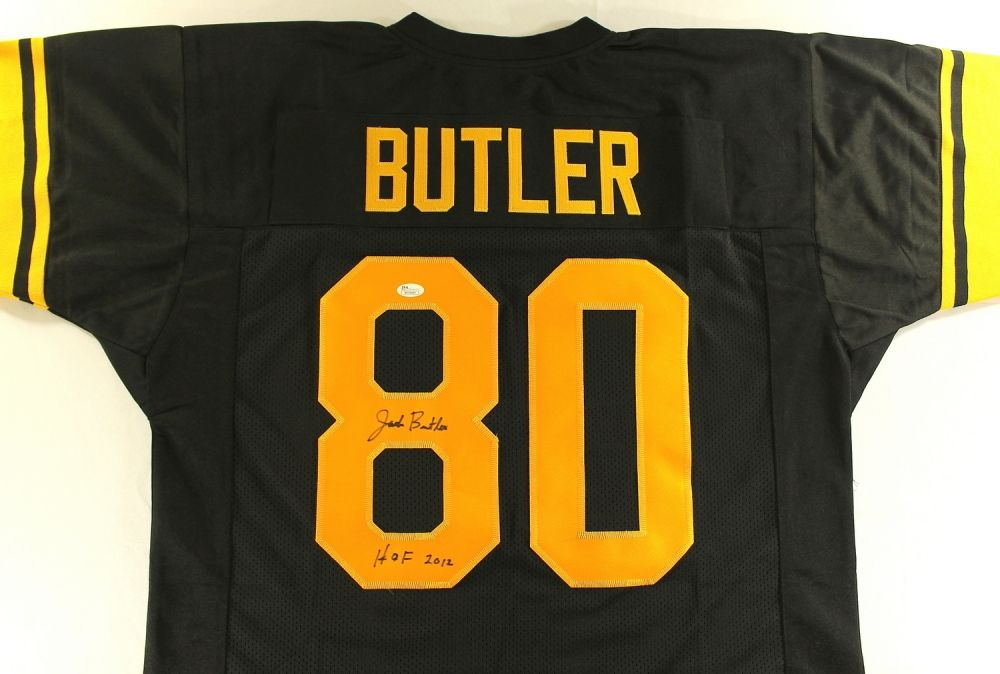 new styles b8b43 59d20 Jack Butler Signed Steelers Jersey Inscribed