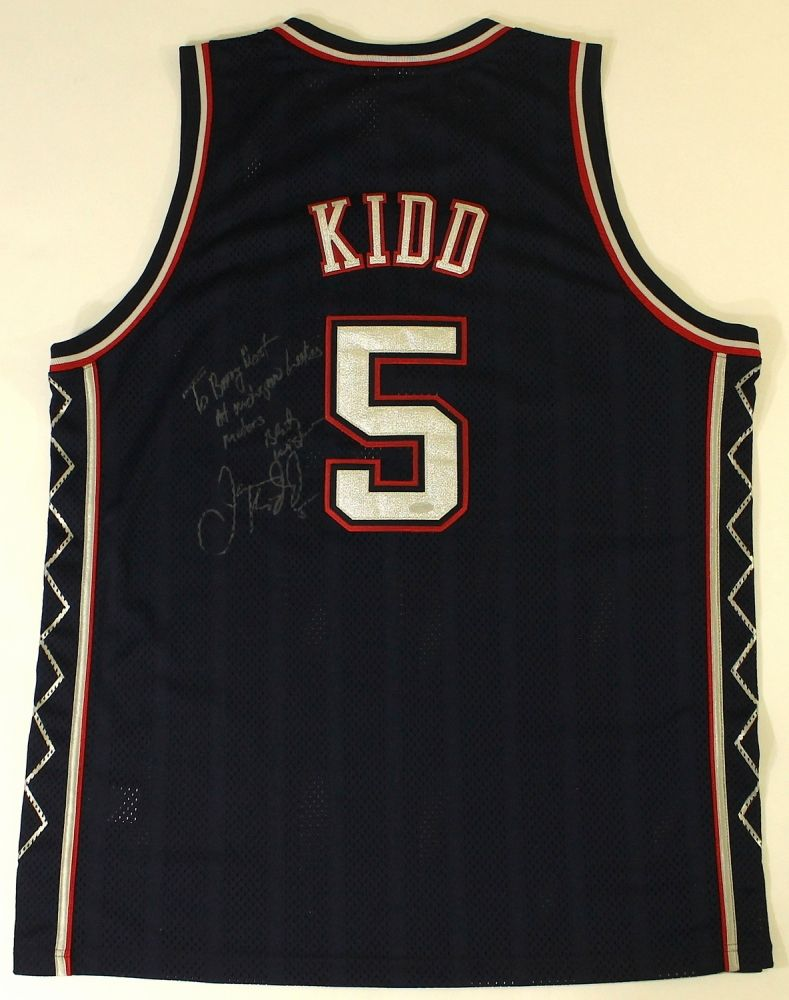 finest selection 415f8 54119 Jason Kidd Signed Nets Jersey (Steiner COA)