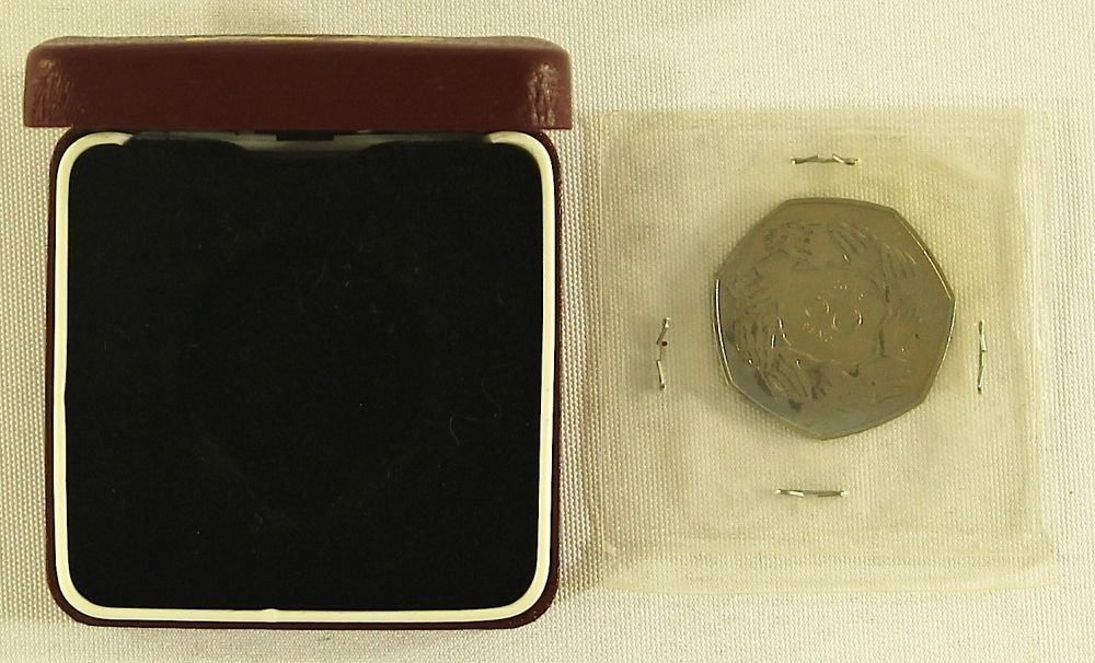 1973 Great Britain Silver 50 Pence Coin with Original Box