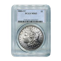 1880-CC $1 Morgan Silver Dollar - PCGS MS63