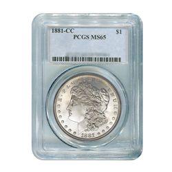 1881-CC $1 Morgan Silver Dollar - PCGS MS65