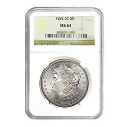 1882 $1 Morgan Silver Dollar - NGC MS64