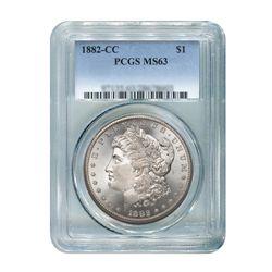 1882-CC $1 Morgan Silver Dollar - PCGS MS63