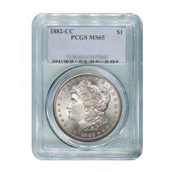 1882-CC $1 Morgan Silver Dollar - PCGS MS65