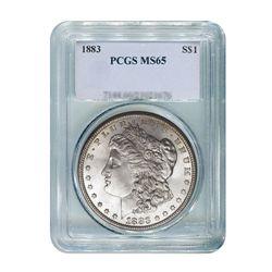 1883 $1 Morgan Silver Dollar - PCGS MS65