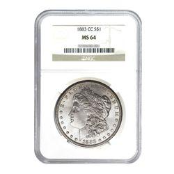 1883-CC $1 Morgan Silver Dollar - NGC MS64