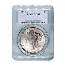 1884-CC $1 Morgan Silver Dollar - PCGS MS65