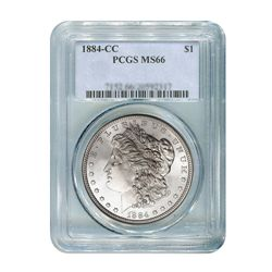 1884-CC $1 Morgan Silver Dollar - PCGS MS66