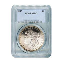 1887 $1 Morgan Silver Dollar - PCGS MS63