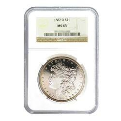 1887-O $1 Morgan Silver Dollar - NGC MS63