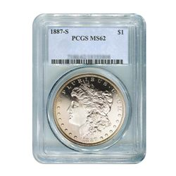 1887-S $1 Morgan Silver Dollar - PCGS MS62