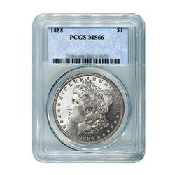 1888 $1 Morgan Silver Dollar - PCGS MS66