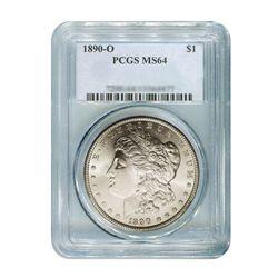 1890-O $1 Morgan Silver Dollar - PCGS MS64