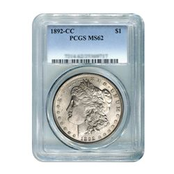 1892-CC $1 Morgan Silver Dollar - PCGS MS62