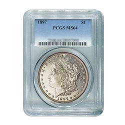 1897 $1 Morgan Silver Dollar - PCGS MS64