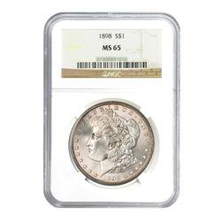 1898 $1 Morgan Silver Dollar - NGC MS65