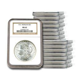 20 Different Dates Morgan Silver Dollar Set NGC MS63