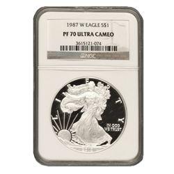 1987 $1 Silver American Eagle PF70