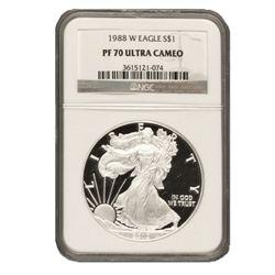 1988 $1 Silver American Eagle PF70