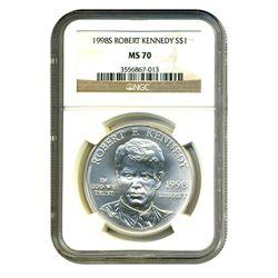 1998 $1 Silver Robert Kennedy Commemorative MS-70