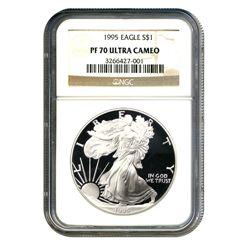 1995 $1 Silver American Eagle PF70