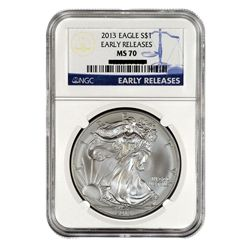 2013 $1 Silver American Eagle MS70 Early Release