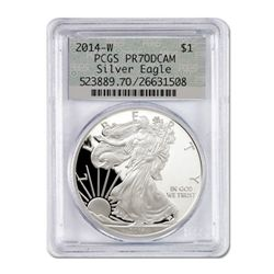 2014 $1 Silver American Eagle PF-70 PCGS