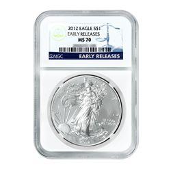 2012 $1 Silver American Eagle MS-70 ER