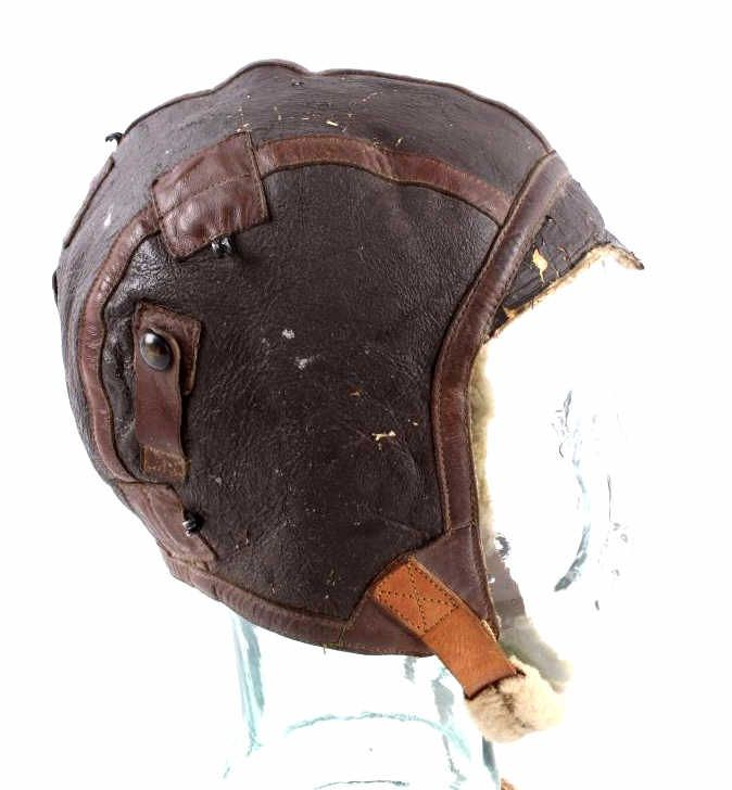 WWII US Army Air Force B-6 Leather Flight Helmet T