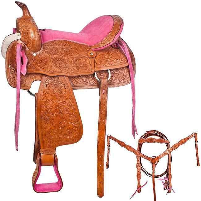 NEW!! Bright Pink Need For Speed Barrel Saddle Horse Tack [8087]