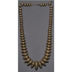 NAVAJO SILVER BEAD NECKLACE