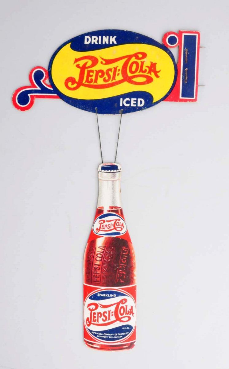 1940s Pepsi Cola Cardboard Cutout Sign