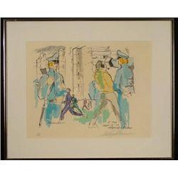 LeRoy Neiman Signed AP Art Print Olympic Village Frmd