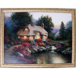 Sergon Stonebridge Cottage Orig Giclee Signed Framed
