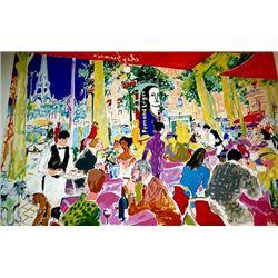 Chez Francis Signed LeRoy Neiman LE Art Print 1997
