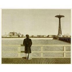 Max Ferguson CONEY ISLAND SELF PORTRAIT Signed Art
