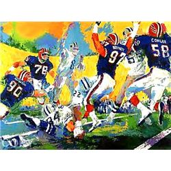 Signed LE Neiman Cowboys Bills Super Bowl Art Print