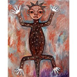 Ephrem Kouakou: Untitled I (Lizard Figure)