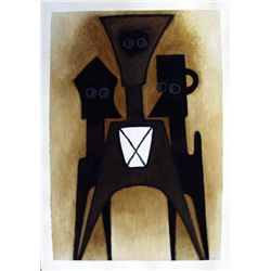 Ephrem Kouakou: Untitled VIII (2 Black Figures Brown)