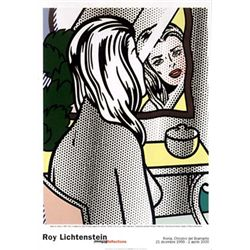 Roy Lichtenstein Modern Art Print Nude at Vanity