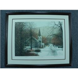 """First Snow"" by Harold Altman, Lithograph #112 of 285"