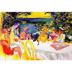 Wine Alfresco Signed Leroy Neiman Limited Ed Art Print