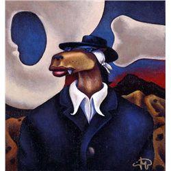 Markus Pierson 'COYOTE PORTRAIT OF O'KEEFE' Canvas