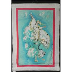 Betty Snyder Rees Batik Fabric Painting Isadora Duncan