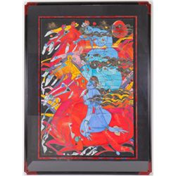 Running Horses Tie-Feng Jiang Limited Ed Print Framed