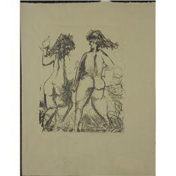 Betty Snyder Rees Original Modern Art Print -Two Women