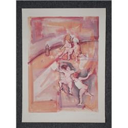 Marcia Marx Signed Proof Art Print Hop Scotch