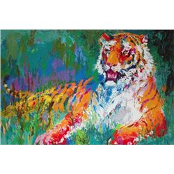 "LeRoy Neiman Signed Art Print ""Resting Tiger"""