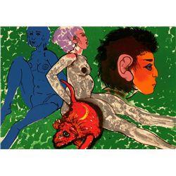 Robert Beauchamp Red Rat S/N Lithograph Art Print